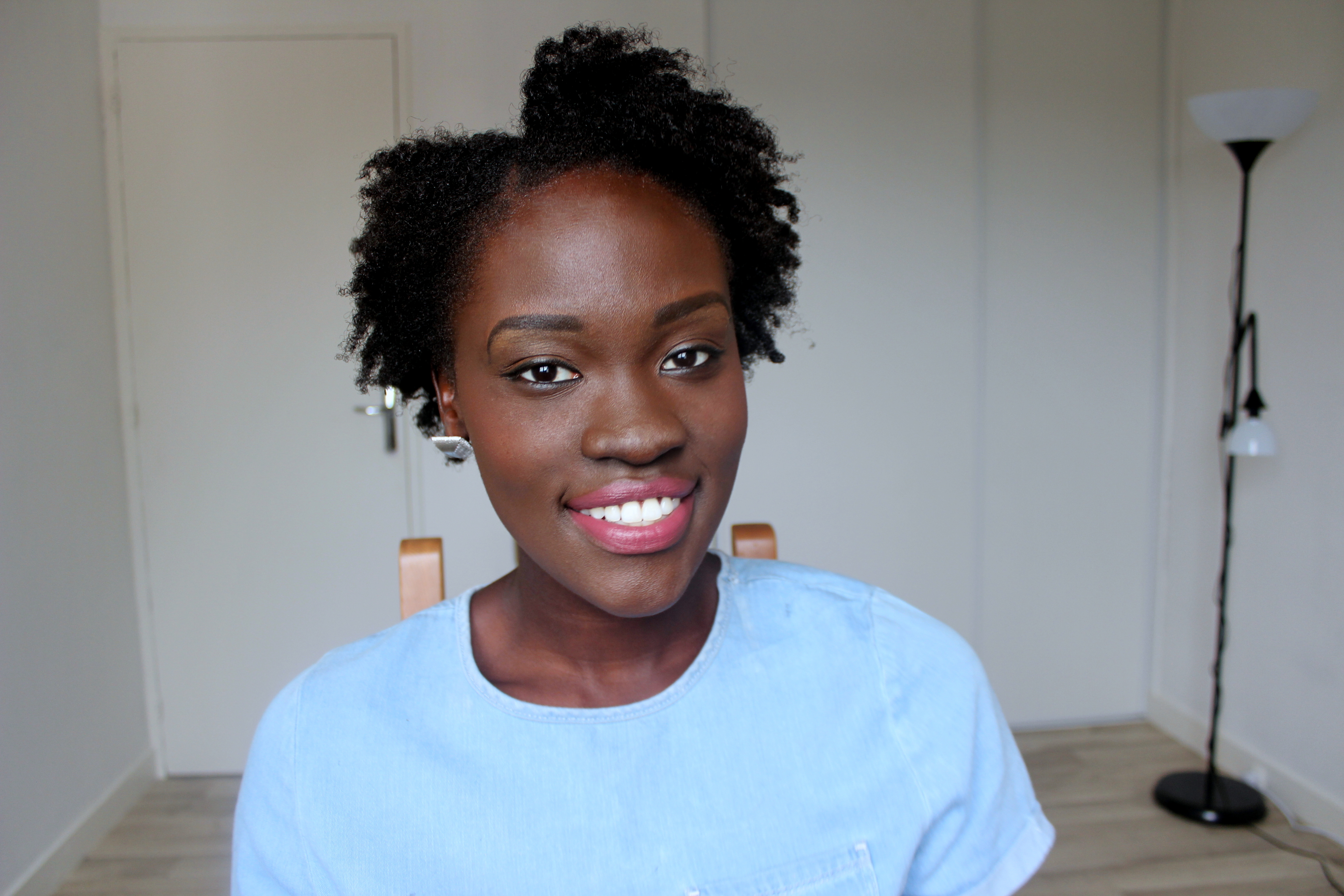 Flat Twist-Out Tutorial On 4C Short Afro